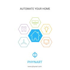 With Phynart Home Automation app, you can control everything from your lighting to your home's Climate with just a tap of your finger. #homeautomation #smarthome #phynart #smartliving