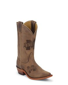 Women's Mississippi State Bulldogs Branded Boot I NEED these! Lol