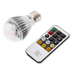 100-240V 4W E27 Bright Remote Control Color Temperature changeable Adjustable LED Light Bulb Lamp