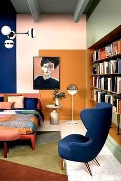 8 peças que levam a nostalgia ao décor – Decorating Ideas Interior Exterior, Interior Architecture, Interior Design, Room Colors, House Colors, Salon Art Deco, Creative Bookshelves, Bookshelf Ideas, Happy Room