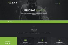 WP MMA - Gym & Fitness PSD by Klever media on @creativemarket