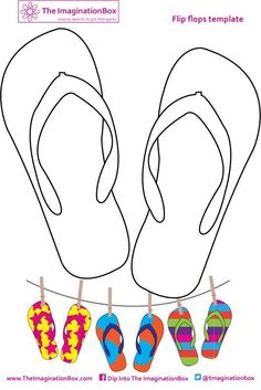 Creative travel friendly activities and printables for kids - Design your own fabulous flipflops, make several pairs into funky bunting or summer wall art. Creative Activities, Art Activities, Summer Activities, Children Activities, Travel Activities, Art For Kids, Crafts For Kids, Arts And Crafts, Summer Crafts
