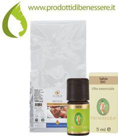 TALCO DEODORANTE NATURALE 50 gr di Argilla Bianca (depurativa, antisettica, tonificante) + 5 gocce O.E. di Salvia (antibatterico, antisettico, hormon like)http://goo.gl/uOTNZf