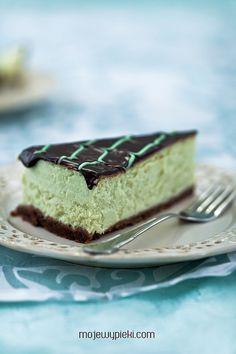 matovy cheesecake z cerstvej maty