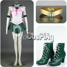 Sailor Moon Sailor Jupiter Kino Makoto Cosplay Costume mp000292