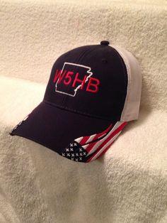 Ham Radio/ Ham Radio Hat/ Ham Radio Callsign Hat / State on Patriotic Hat / Fathers Day Hat / amateur radio