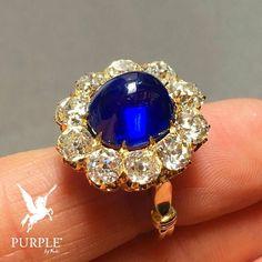 Dreaming of a precious ring check this 7.13 carats of KASHMIR SAPPHIRE surrounded by old brilliant-cut diamonds by @bonhams1793 via @jewelsdujour #purplebyanki #love #instagood #beautiful #diamond #finejewellry #highjewellry #SapphireAndDiamonds