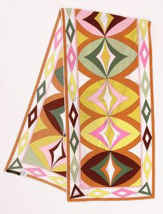 EMILIO PUCCI SCARF/WRAP. Always love Pucci. Textiles, Silk Painting, Emilio Pucci, Scarf Styles, Scarf Wrap, Vintage Fashion, Hand Painted, Retro, My Style