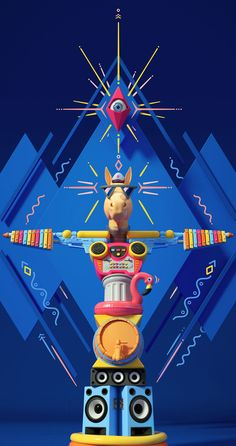"""Visual identity for the Pferdefest 2016 Festival – aka the """"Horse Event"""". Pferdefest is a unique, colorful and crazy music festival occurring in August every year in the beautiful landscape of the Mosel valley in Bernkastel-Kues, Germany."""