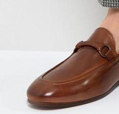 1866a8e94e6 H By Hudson Renzo Leather Loafers in Tan at asos.com