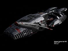 Battlestar Galactica and a Colonial Viper