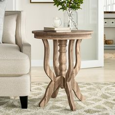 Ignazio Pedestal Table In 2019 Chair Side Table Table