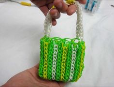Rainbow loom purse