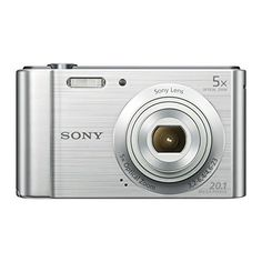 Sony DSCW800 Compact Digital Camera – Silver (20.1 MP, 5x Optical Zoom)