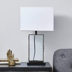 Maya Glass Table Lamp | Dunelm