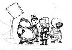 South Park Doodle by skottieyoung.deviantart.com on @deviantART