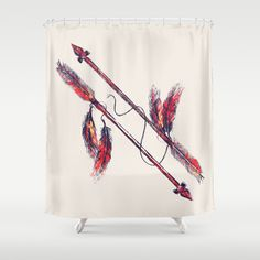 indian arrow shower curtain by budi satria kwan
