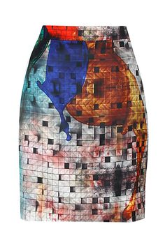Multic-colour splash print pencil skirt. BY ASHISH SONI Shop now at: www.perniaspopups... #perniaspopupshop #designer #stunning #fashion #style #beautiful #happyshopping #love #updates