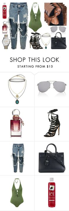 """Baby the minute I feel your energy your vibe has just taken over me, start feeling so crazy babe lately I feel the funk coming over me. #581"" by stay-strong-18 ❤ liked on Polyvore featuring Topshop, Yves Saint Laurent, River Island, One Teaspoon and Michael Kors"
