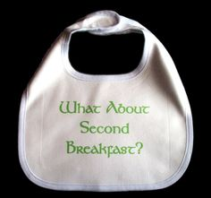 Second Breakfast lord of the rings inspired bib by GelertDesign