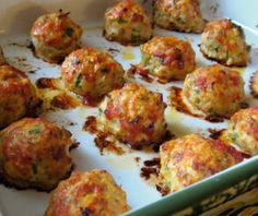 Baked Chicken Meatballs   #justeatrealfood #dandydishes
