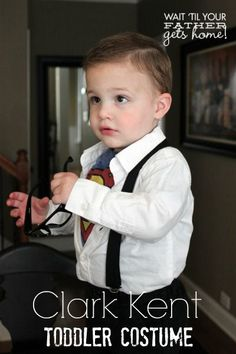 Clark Kent Toddler Costume via www.waittilyourfathergetshome.com #costume…