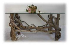 table de salon en bois flotté NATYDECO  fabrication artisanale…