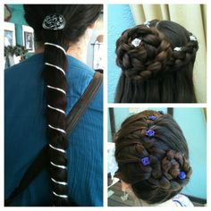 My daughter, her friend and I all had our hair done at the Renaissance Festival this weekend. It was so much fun!