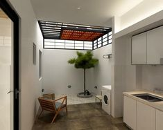 Small Home Remodel Designs Under 50 Square Meters - Di Home Design Outdoor Kitchen Design, Patio Design, Garden Design, Home Room Design, House Design, Outdoor Laundry Rooms, Dirty Kitchen, Apartment Interior Design, Trendy Home