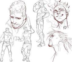 Guy Drawing, Drawing Poses, Figure Drawing, Drawing Reference, Drawing Sketches, Art Drawings, Character Sketches, Character Design References, Character Art