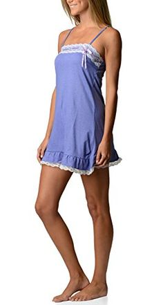 Bottoms Out Womens Jersey Knit Lace Chemise Nightshirt Sweetheart Slip  Light Purple  Medium *** You can find more details by visiting the image link. Note: It's an affiliate link to Amazon.