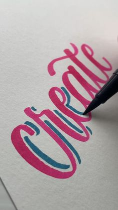 CREATE HAND LETTERING AND WATERCOLOR AND CALLIGRAPHY USING BRUSH PENS