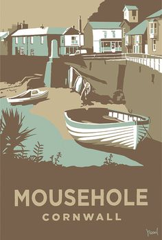 Mousehole (SR12) Beach and Coastal Print http://www.thewhistlefish.com/product/mousehole-print-by-steve-read-p-sr12 #mousehole #cornwall