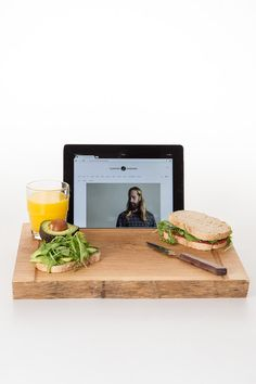 A cozy weekend indoors is made even better with a tray that doubles as an iPad stand. #etsyfind