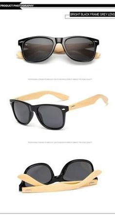e24306957c58 Bright Black Gray Bamboo Brand Designer Sunglasses For Sales Online Store  Shop Free Shipping products eyewear