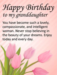 25 best birthday cards for granddaughter images on pinterest happy send free to my lovely granddaughter happy birthday wishes card to loved ones on birthday greeting cards by davia its free and you also can use your m4hsunfo