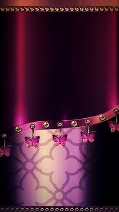 By Artist Unknown. Bling Wallpaper, Flowery Wallpaper, Wallpaper For Your Phone, Butterfly Wallpaper, Apple Wallpaper, Cellphone Wallpaper, Screen Wallpaper, Mobile Wallpaper, Wallpaper Backgrounds