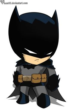 Batman chibi by ~sham93 on deviantART. My goodness, it's ADORABLE!