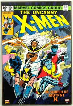 Marvel UNCANNY X-MEN #126 Retro Wood Comic Cover Plaque Wall Art #weboys10