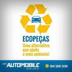 No Brasil apenas 15% dos carros que saem de circulação são reciclados. Muitas peças e até veículos inteiros acabam em desmanches e são descartados de maneira inadequada prejudicando o meio ambiente. De modo sustentável a AutoMobile reaproveita e recicla peças que seriam descartadas e as disponibiliza novamente no mercado com procedência e garantia. Tudo isso sem perder o compromisso e a responsabilidade com o que é mais importante para nós: cuidar de você e do nosso planeta. #AutomobilePecas…