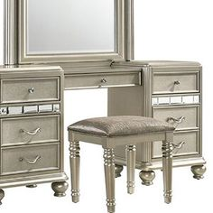 Mooney Vanity Set with Stool and Mirror Vanity Mirror, Vanity Set With Mirror, Vanity Table Set, Vanity Table, House Of Hampton, Transitional Vanity, Vanity Set, Vanity Stool, Charlton Home