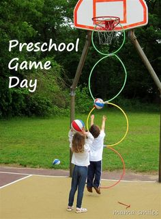 Preschool Game Day! Fun activities for kids of all sizes and abilities. Preschool-accessible field day games. via @mamasmiles