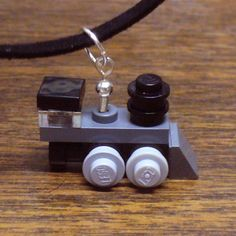Lego train necklace