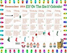 FREE Elf on The Shelf Ideas Calendar Every year, I see funny Elf on the Shelf Ideas and wish that my family started doing this when my kids were younger. I decided to put together this calendar ful…