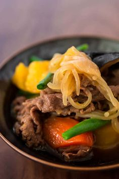 """With beef and potatoes simmered in a sweet soy stock until meltingly tender, Nikujaga, or """"meat potatoes"""" is Japanese comfort food at its best."""