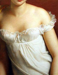 (Detail) Juliette Récamier, 1805. François Gérard.