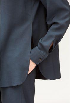 chemise croisée  - Lemaire Spring 2016