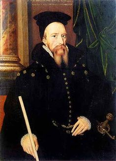 William Cecil, Lord Burghly, Elizabeth I's chief councillor and friend | by Arnold van Brounckhorst, c.1560's. (National Portrait Gallery, London).... Rupert hat option