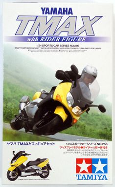 Tamiya 24256 1/24 Scale Yamaha TMAX w/Rider Figure  from Japan #Tamiya