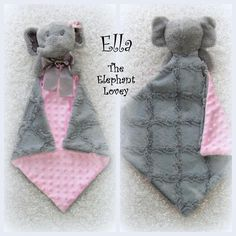 Jackson the fox lovey by lovablekreations minky fleece fabrics ella the elephant lovey by lovablekreations unique qnd ultra soft security blanket with attached elephant toy personalized baby gift negle Choice Image